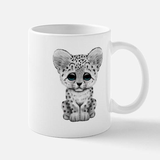 Cute Baby Snow Leopard Cub Mugs