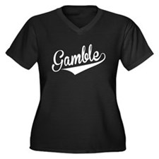 Gamble, Retro, Plus Size T-Shirt