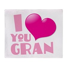 I love you gran with cute love heart Throw Blanket