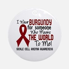 Sickle Cell Anemia MeansWorld2 Ornament (Round)