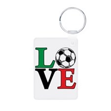 Soccer LOVE Aluminum Keychain (both sides)