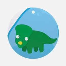 Little green dinosaur in the womb Ornament (Round)