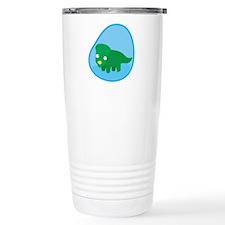 Little green dinosaur in the womb Travel Mug