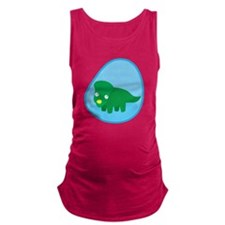 Little green dinosaur in the womb Maternity Tank T
