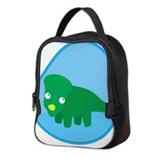 Little green dinosaur in the womb Neoprene Lunch B