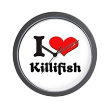 I love killifish  Wall Clock