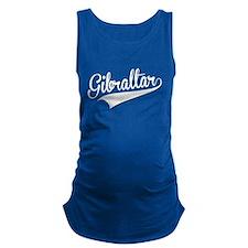 Gibraltar, Retro, Maternity Tank Top