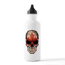 Canadian Flag Skull Stainless Water Bottle 1.0l
