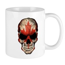 Canadian Flag Skull Mugs