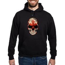 Canadian Flag Skull Hoodie