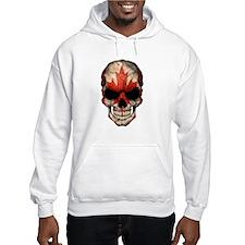 Canadian Flag Skull Hoodie Sweatshirt