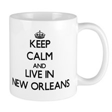 Keep Calm and live in New Orleans Mugs