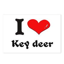 I love key deer  Postcards (Package of 8)