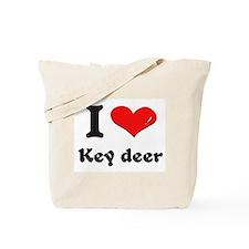 I love key deer Tote Bag