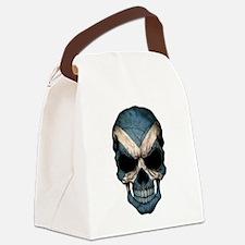 Scottish Flag Skull Canvas Lunch Bag