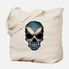 Scottish Flag Skull Tote Bag