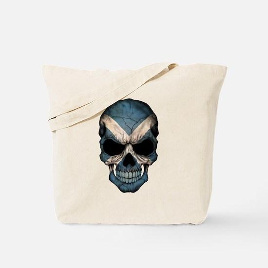 Scottish Flag Skull Tote Bag