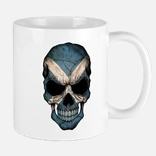 Scottish Flag Skull Mugs