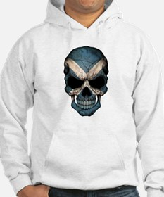 Scottish Flag Skull Hoodie Sweatshirt