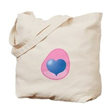 blue Heart in pink womb pregnancy maternity Tote B