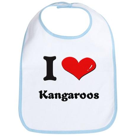 I love kangaroos Bib