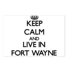 Keep Calm and live in Fort Wayne Postcards (Packag