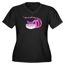 Cute Tea parties Women's Plus Size V-Neck Dark T-Shirt