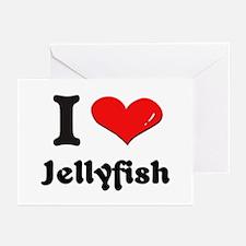 I love jellyfish  Greeting Cards (Pk of 10)