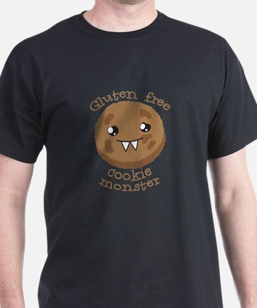 Gluten free Cookie monster cute brown biscuit T-Sh