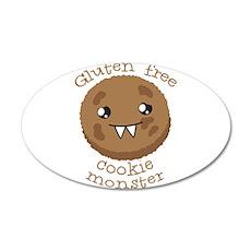 Gluten free Cookie monster cute brown biscuit Wall