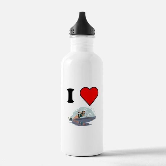 I Heart Waterskiing Water Bottle