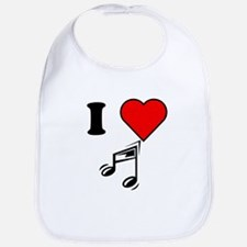 I Heart Music Bib