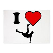 I Heart Dancing 5'x7'Area Rug