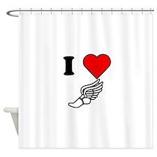 I Heart Running Shower Curtain