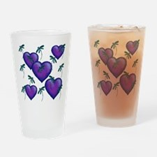Love Hearts and Dragonflies Purple Blues Drinking