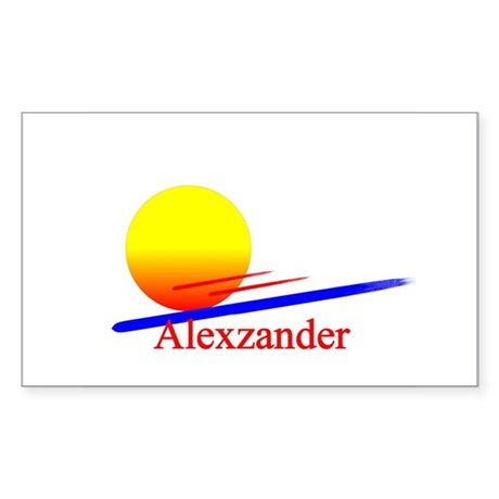 Alexzander Rectangle Sticker