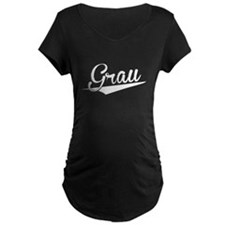 Grau, Retro, Maternity T-Shirt