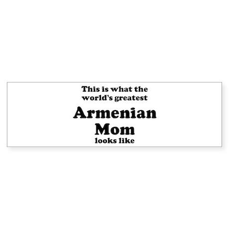 Armenian mom Bumper Sticker