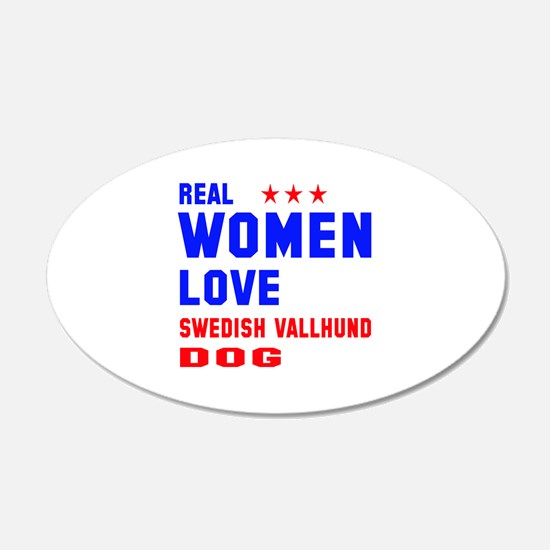 Real Women Love Swedish Vall Wall Decal