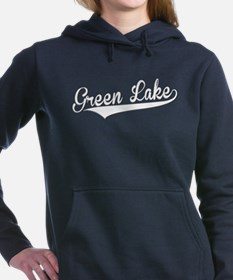 Green Lake, Retro, Women's Hooded Sweatshirt