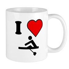 I Heart Rowing Mugs