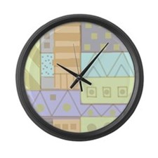 Digital Hand Painted Pattern Large Wall Clock