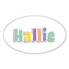 Hallie Spring14 Oval Decal