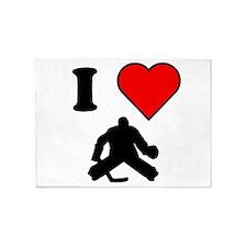 I Heart Hockey 5'x7'Area Rug