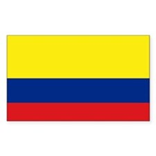 Colombian flag Rectangle Decal