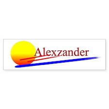 Alexzander Bumper Bumper Sticker