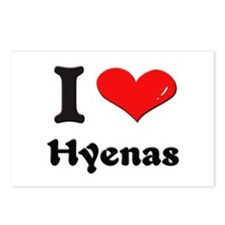 I love hyenas  Postcards (Package of 8)