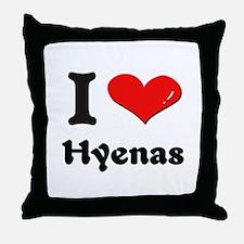 I love hyenas  Throw Pillow