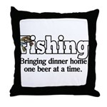 One Beer At A Time Throw Pillow