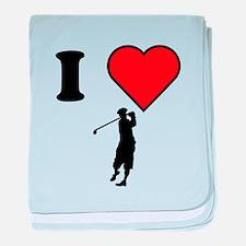 I Heart Golf baby blanket